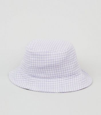 Lilac Gingham Bucket Hat