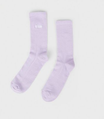 Lilac Victory Embroidered Sports Socks