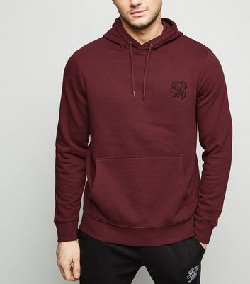 Burgundy TW9 Embroidered Hoodie