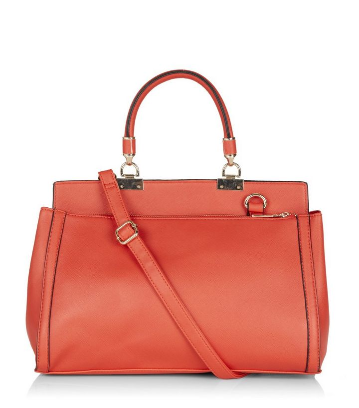 Red Colour Block Structured Tote Bag Add to Saved Items Remove from Saved  Items ebc4c44aa16bc
