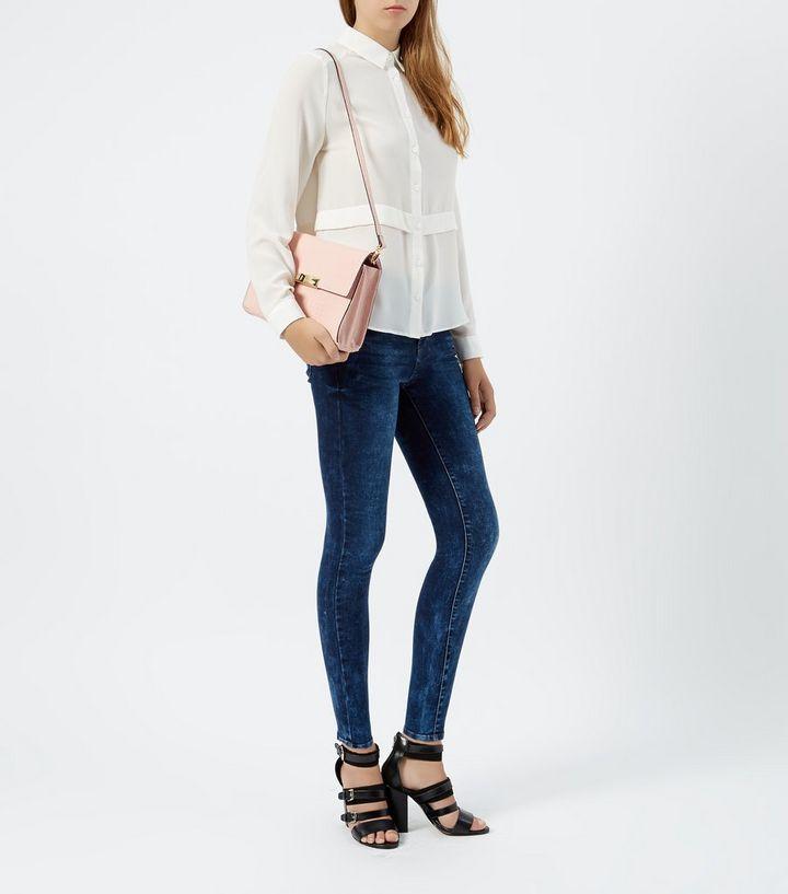 1c74d0dc51 ... Dark Blue Mottled Denim Super Skinny Jeans. ×. ×. ×. Shop the look