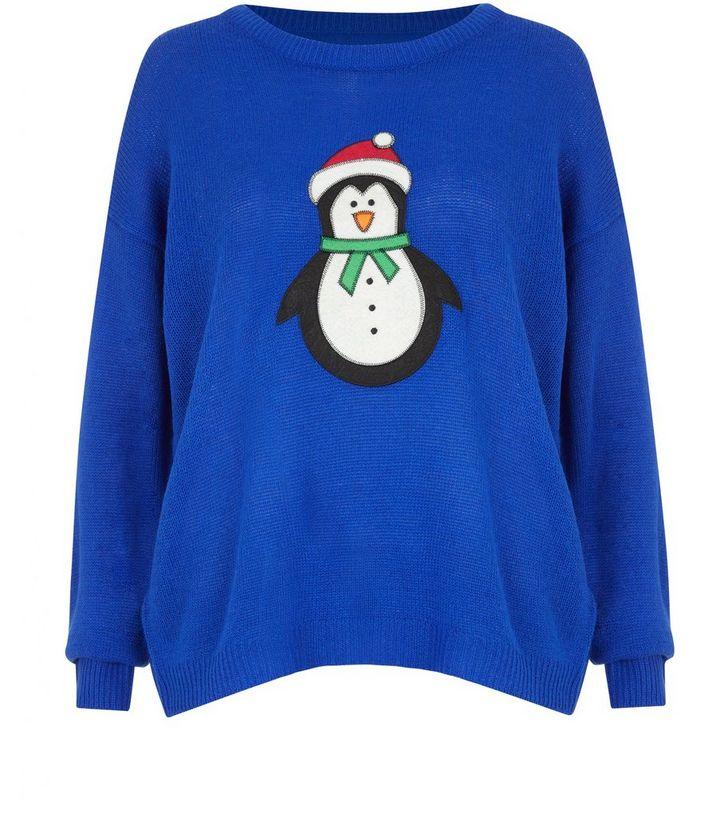 5638f41ad07 Brave Soul Blue Snowman Christmas Jumper