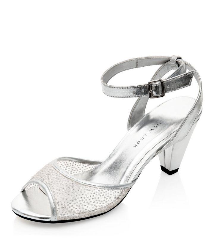 f4e1c9985c0 Teens Silver Mesh Front Court Shoes