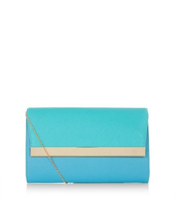 Blue Metal Bar Colour Block Clutch Add to Saved Items Remove from Saved Items