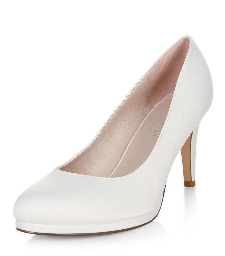85d48d99eee Wide Fit Ivory Bridal Court Shoes