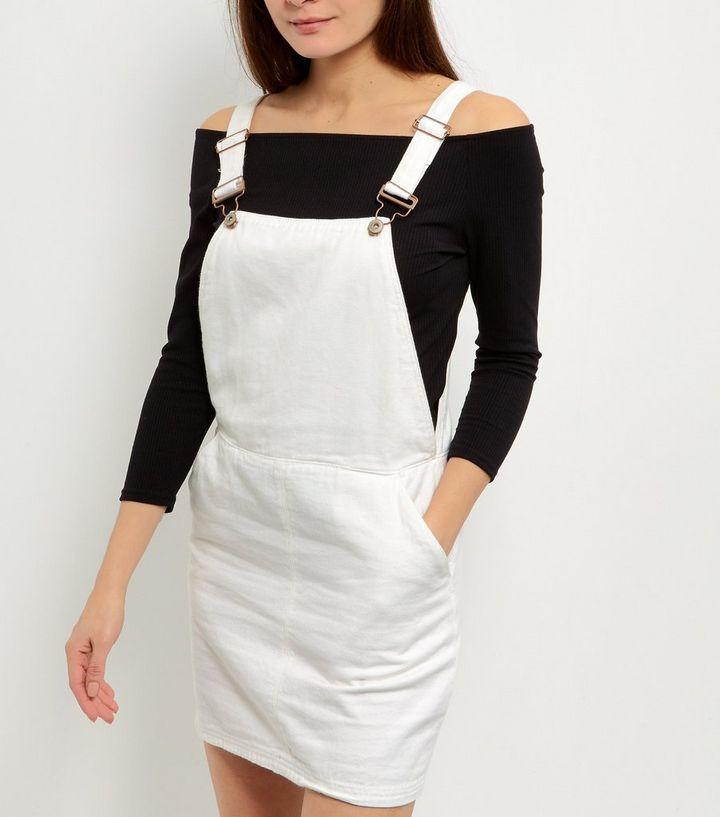 fd185276bb5 ... Womens Clothing · Dresses · White Denim Pinafore Dress. ×. ×. ×. Shop  the look