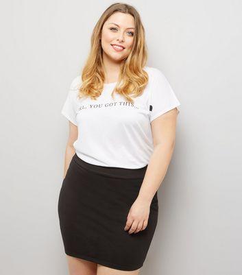 Curves Black Tube Skirt New Look