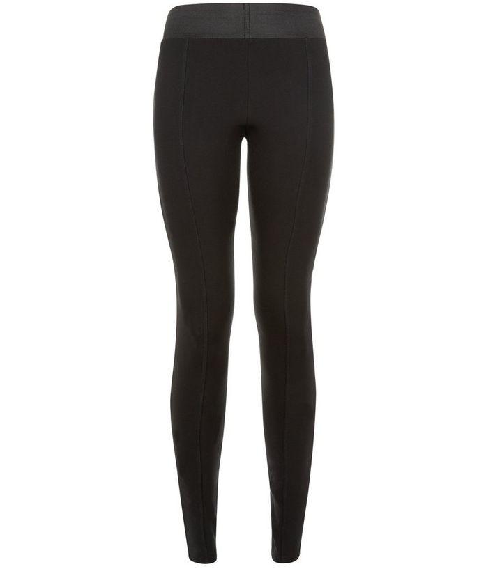 33a3706ea6 Black Wide Elasticated Waistband Leggings