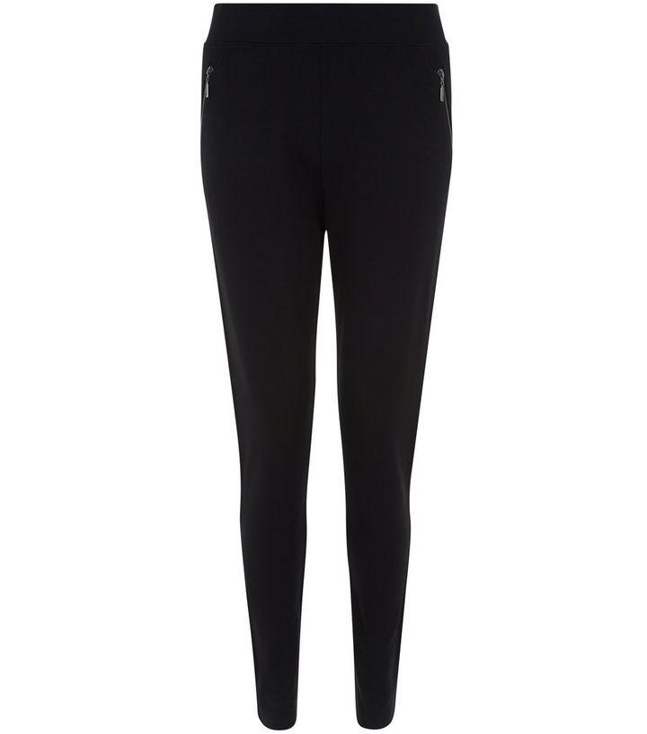 394c51916444a Black Double Zip Side Leggings | New Look
