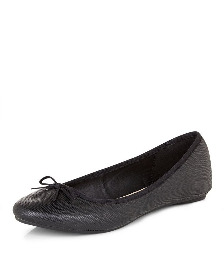 8b37175347f Wide Fit Black Comfort Ballet Pumps