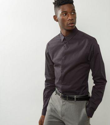 Black Stretch Super Slim Fit Long Sleeve Shirt New Look