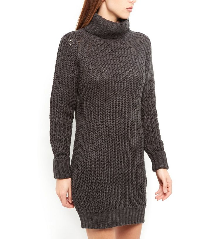 8e3e5bbe1b7 Brave Soul Grey Turtle Neck Jumper Dress Add to Saved Items Remove from  Saved Items