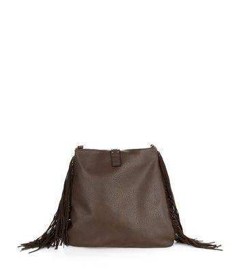 Brown patchwork fringed bag new look jpg 720x817 Brown fringe bag bac9aa4127532