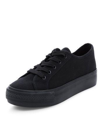 black lace plimsolls
