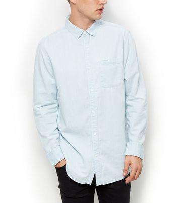 84520052949 Pale Blue Long Sleeve Denim Shirt