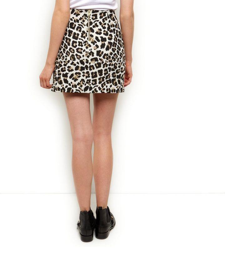 cef2573bd4188d ... Brown Leopard Print Jacquard A-Line Skirt. ×. ×. ×. Shop the look