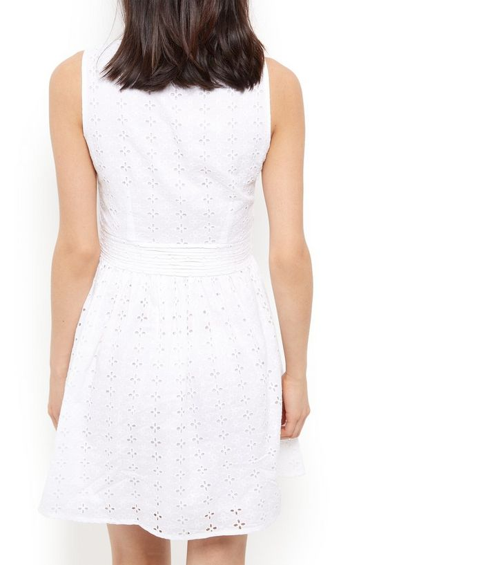 ... Cutie White Broderie Zip Front Skater Dress. ×. ×. ×. Shop the look bffbe2859