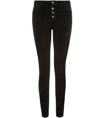 Black Cord High Waisted Skinny Jeans Für später speichern Von gespeicherten Artikeln entfernen
