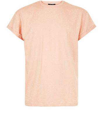 Pink Spray Wash T-Shirt New Look