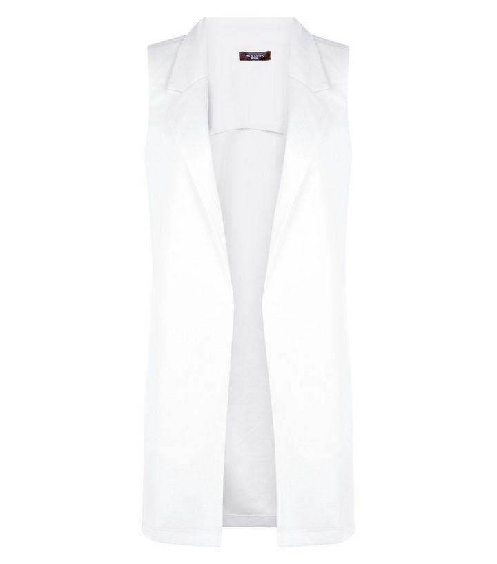 0a697f2e7 Petite Cream Longline Sleeveless Coat
