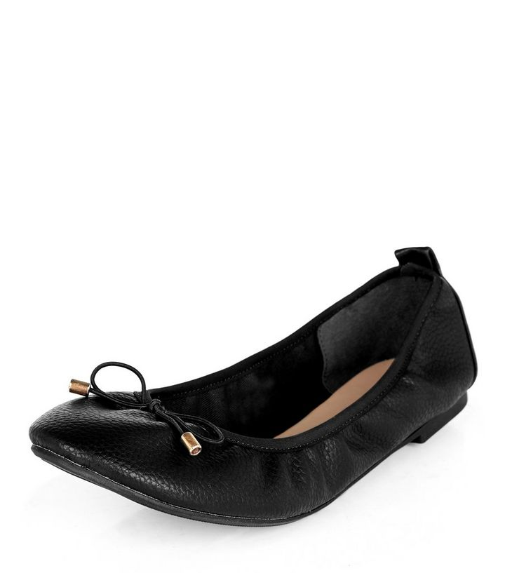 c4d95dce4ac Wide Fit Black Snakeskin Print Elasticated Ballet Pumps Add to Saved Items  Remove from Saved Items