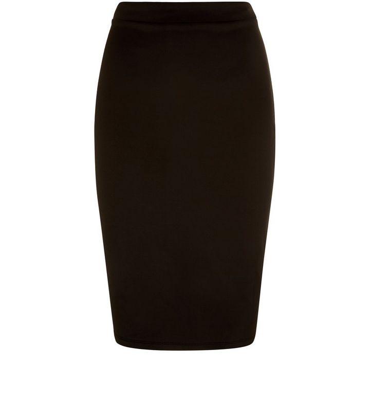 939ca4438d Black Scuba High Waisted Pencil Skirt | New Look
