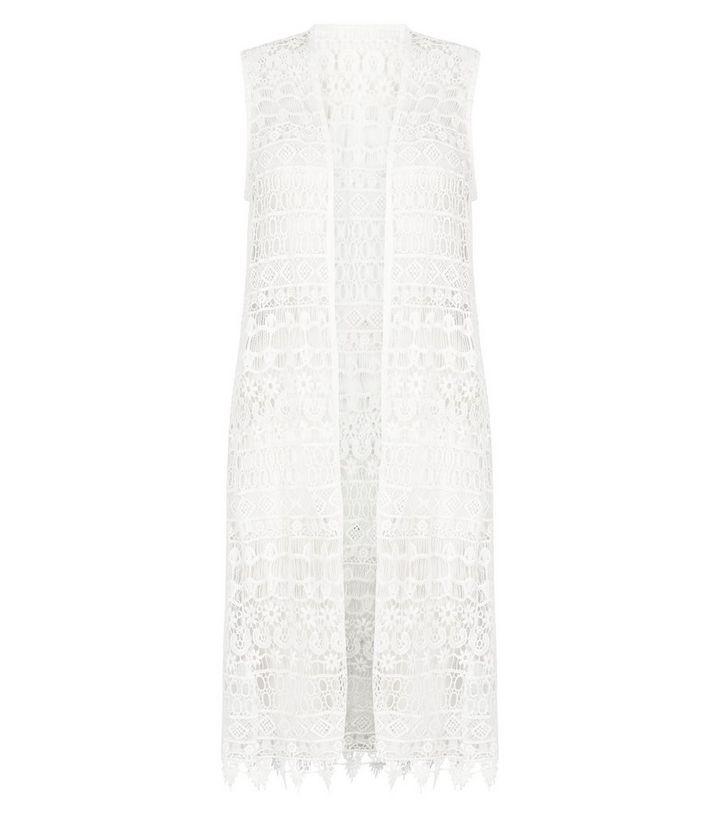 57f11c98bb0e ... Cameo Rose White Crochet Sleeveless Kimono. ×. ×. ×. Shop the look