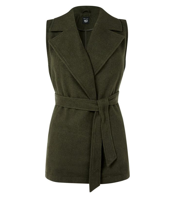 164aa083 Teens Khaki Wrap Front Belted Sleeveless Jacket Add to Saved Items Remove  from Saved Items