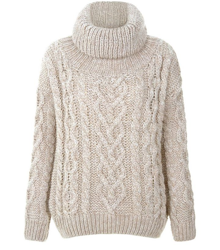 91bf97842a2 Stone Premium Cable Knit Roll Neck Jumper Add to Saved Items Remove from  Saved Items