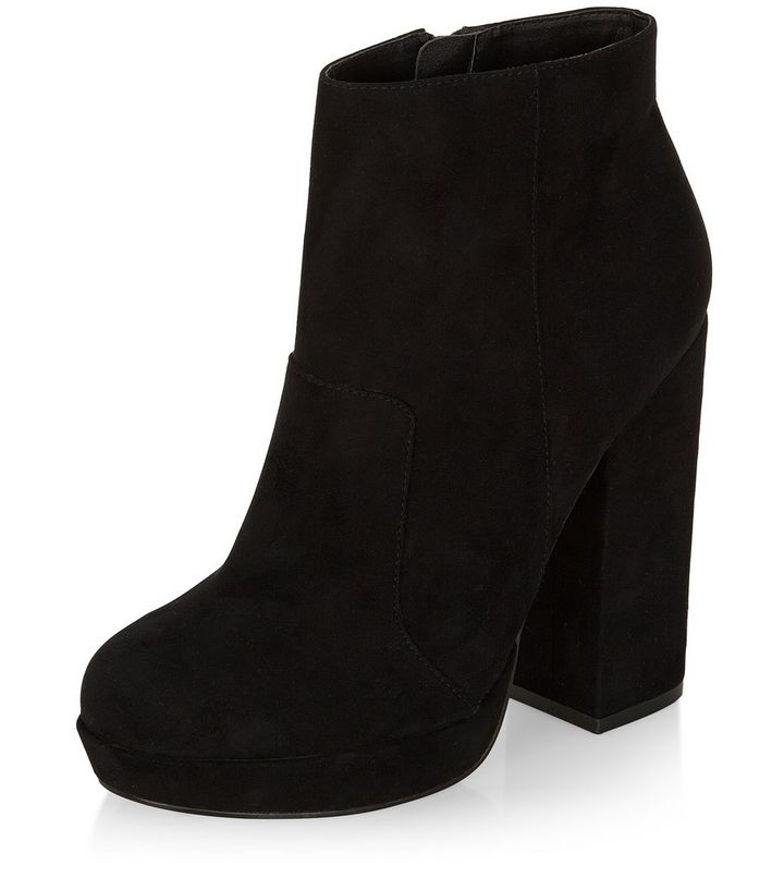 571a272c3532 Black Block Heel Ankle Boots