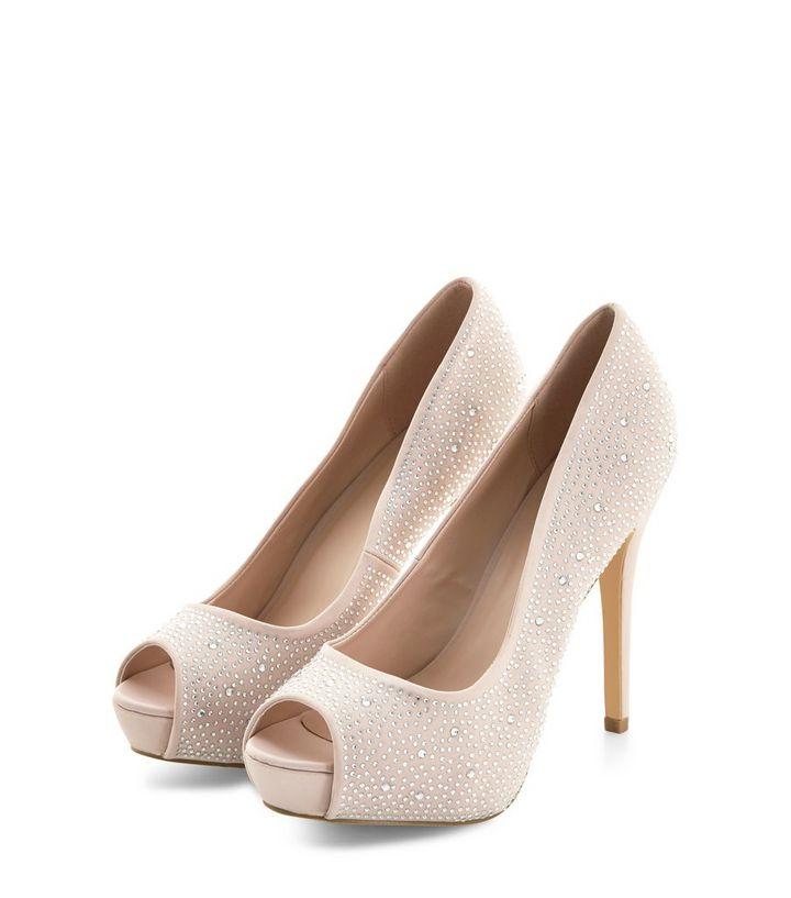 4983d13458 ... Stone Diamante Peep Toe Heels. ×. ×. ×. VIDEO Shop the look