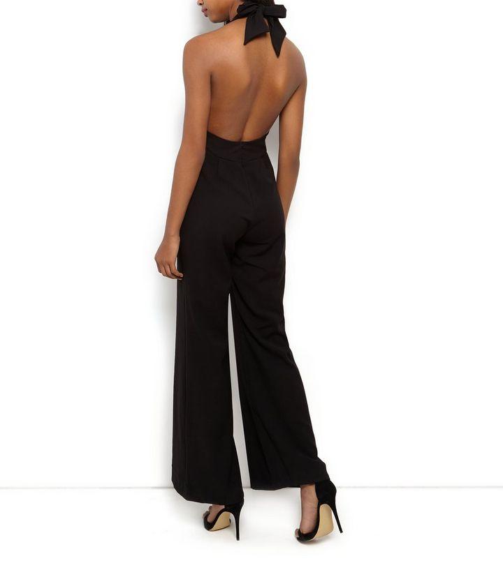 361b576f913e ... John Zack Black Deep V Halter Neck Jumpsuit. ×. ×. ×. Shop the look