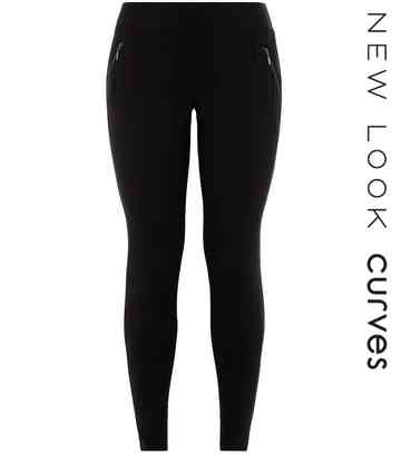 980276e2f97e4f Women's Basic Leggings | Black & Fleece Lined Leggings | New Look