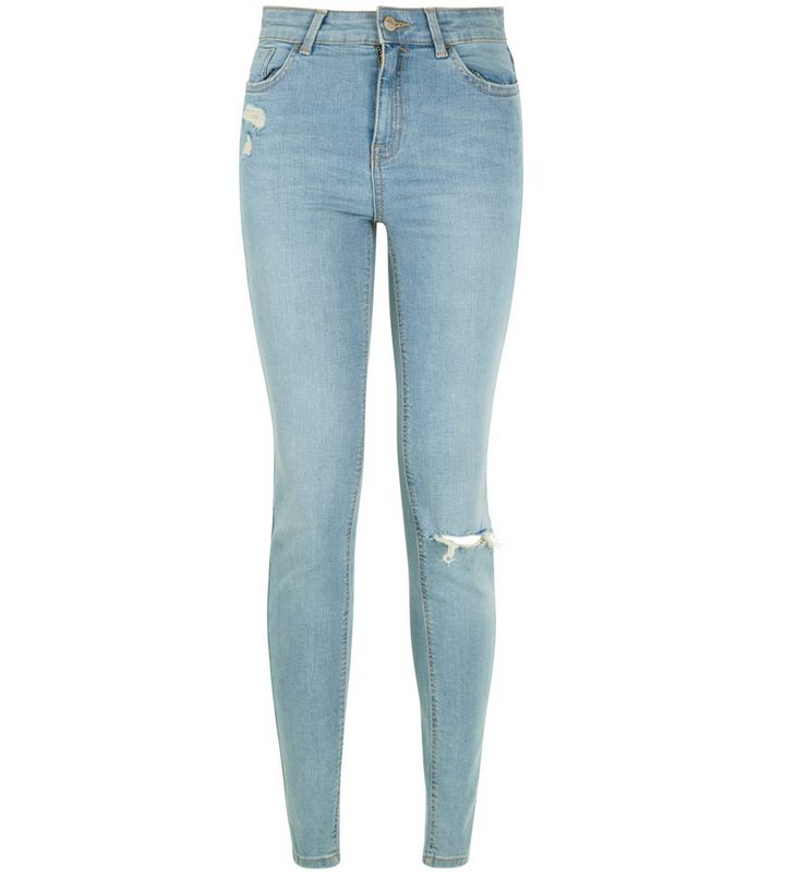 d1a6d938069002 Light Blue Ripped Skinny Jeans   New Look