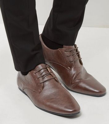 Brown Lace Up Gibson Shoes New Look