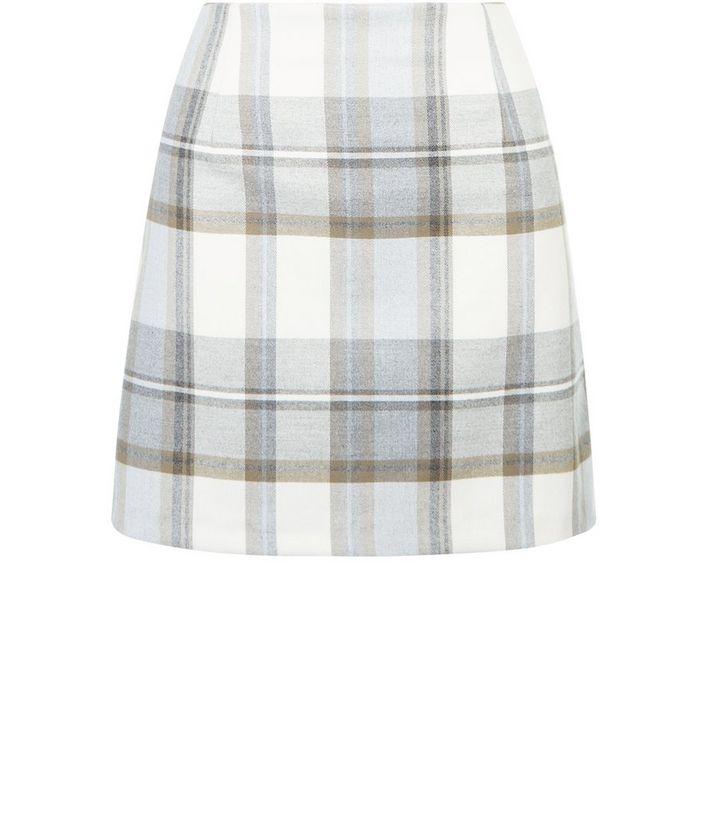 4002d69eb2e3 Cream Check Mini Skirt   New Look