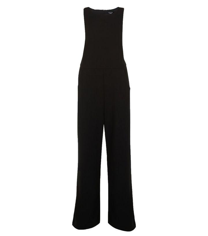 77f6de2ff4 Petite Black Lace Trim Wide Leg Jumpsuit