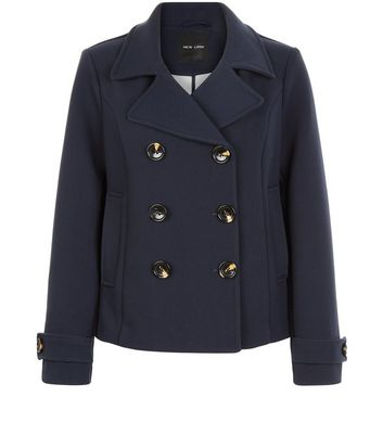 Double Breasted Short Pea Coat