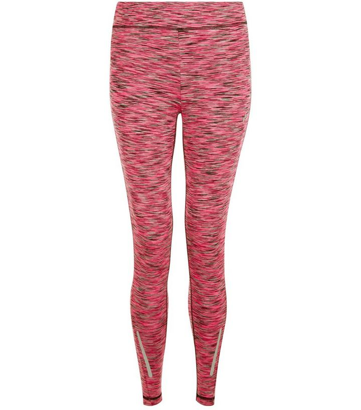 bac0b1beaa Only Pink Space Dye Sports Leggings | New Look