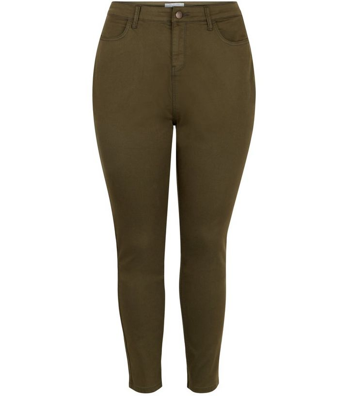 bc4272351da Plus Size Khaki Skinny Jeans