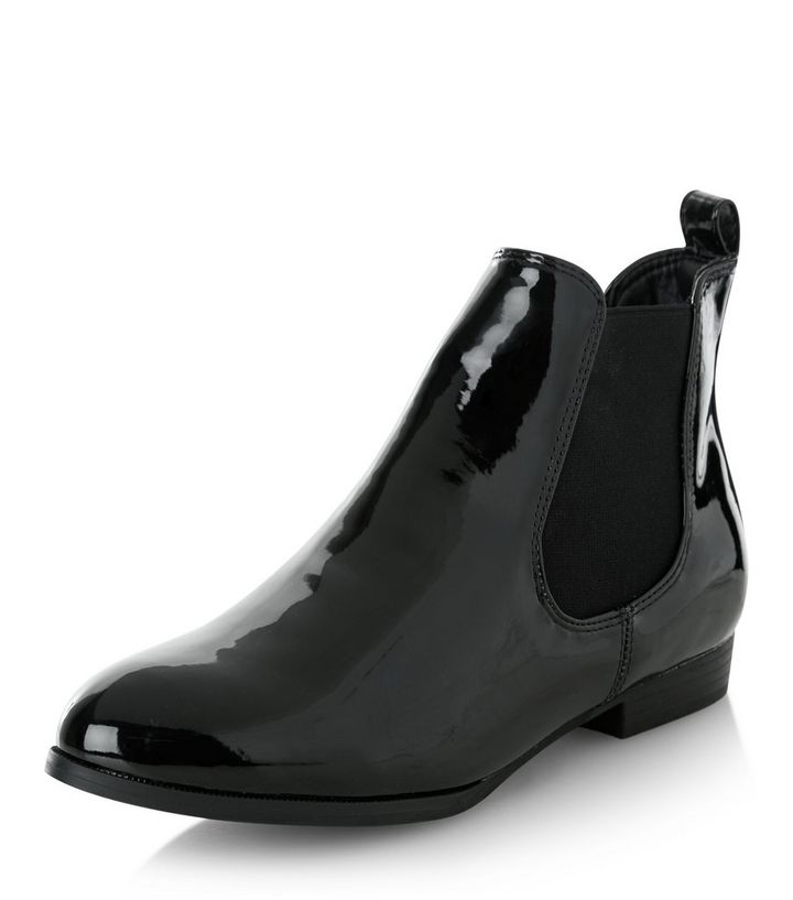 8b43e6007ea Black Patent Chelsea Boots Add to Saved Items Remove from Saved Items