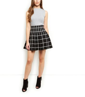 New Look Grid Check Jupe Femme