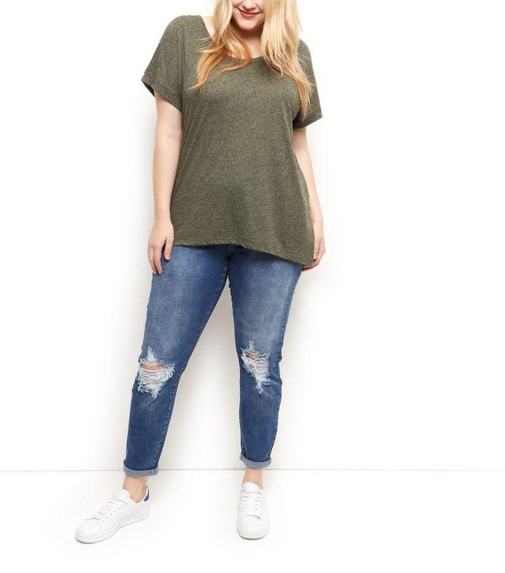 f65475b55b0 ... Plus Size Khaki Split Back T-Shirt. ×. ×. ×. Shop the look