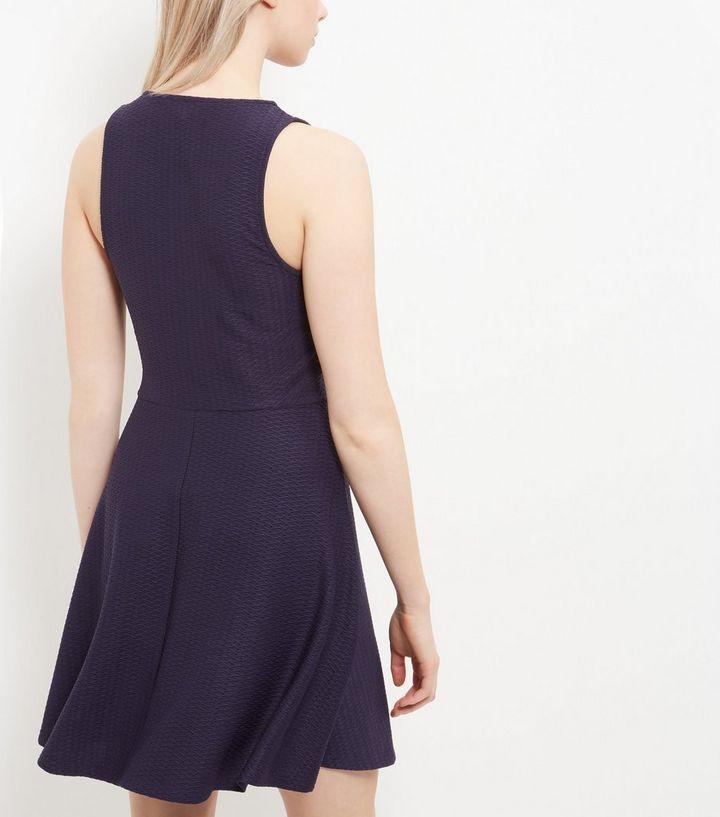 ... Navy Jersey Jacquard Sleeveless Skater Dress. ×. ×. ×. Shop the look ea69ec89f