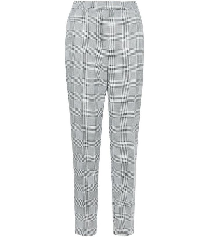 511f9e6af0eb Black Prince Of Wales Check Slim Leg Trousers | New Look