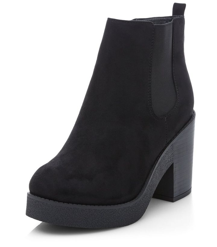 fef75c9245c Wide Fit Black Block Heel Chelsea Boots Add to Saved Items Remove from  Saved Items