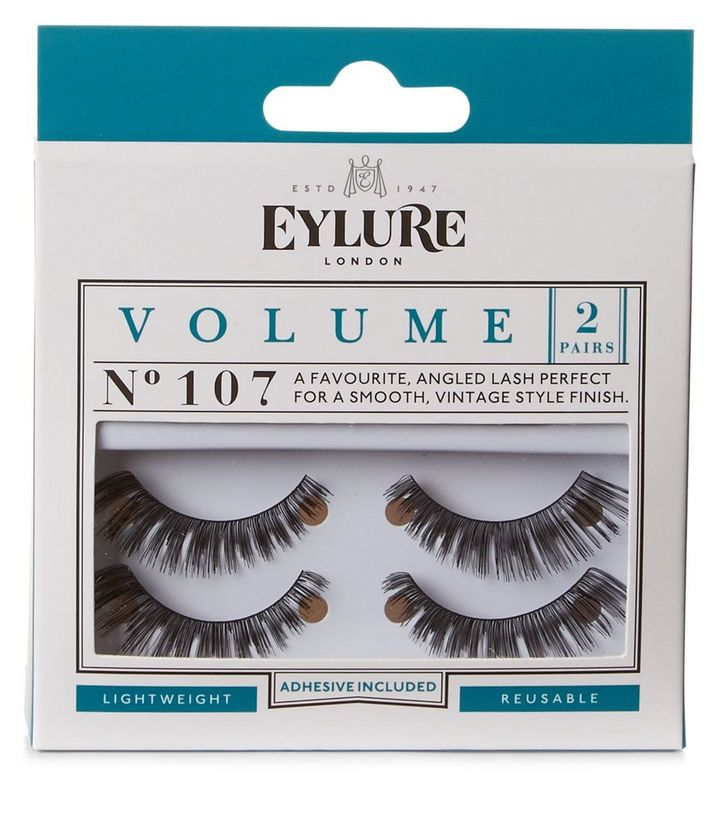 bd0c3e6c036 2 Pack Eylure Black Volume 107 False Eyelashes | New Look