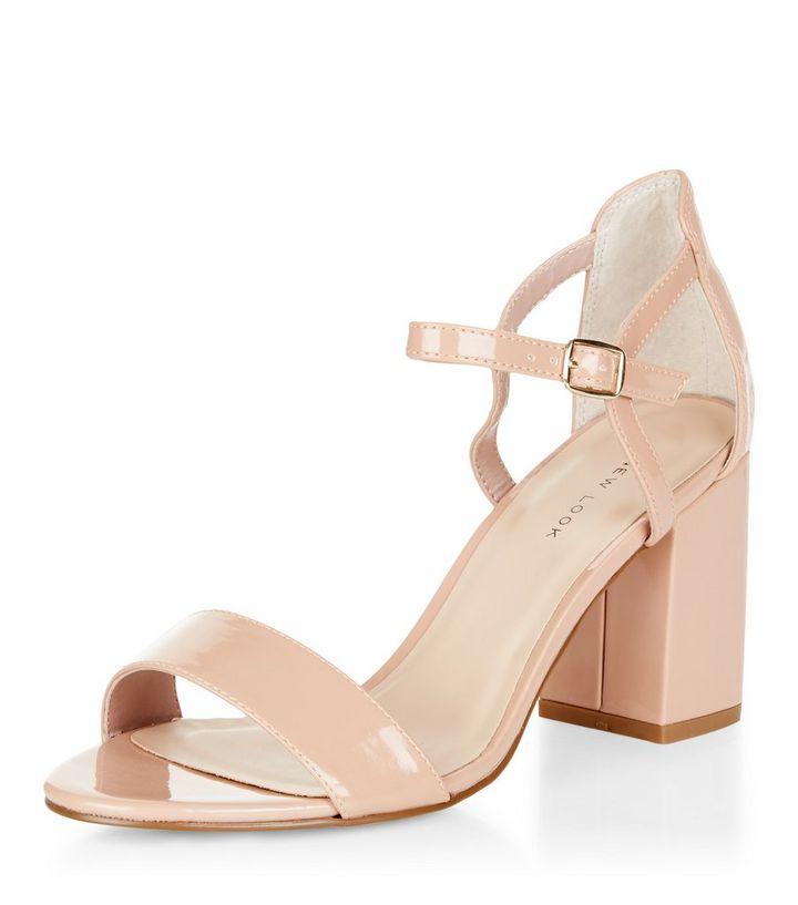 0b6ea60ebdc Stone Patent Block Heel Sandals