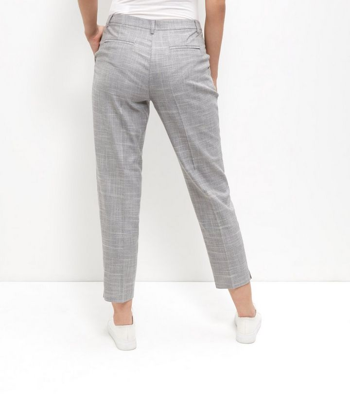 2a359652eb7f1e ... Women's Trousers · Grey Crosshatch Linen Slim Fit Cropped Trousers. ×.  ×. ×. Shop the look