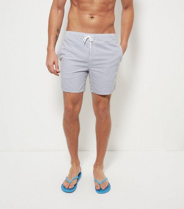 3a74f4252a670 Blue Stripe Swim Shorts | New Look